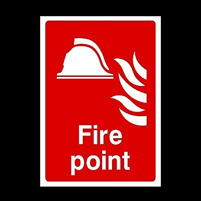 Fire Point Signs & Stickers All Sizes! All Materials! Free P+P (Fe12)