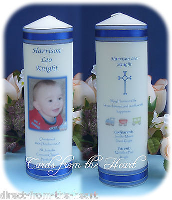 Personalised Candle Baptism Christening Naming Day XL Baby Boy Girl ceremony big