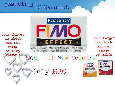 FIMO Effect 56g Polymer Clay 13 New Colours Modelling Jewellery 5.5cm x 5.5cm