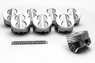 SPEED PRO Ford 289 302 Flat Top 4VR Hypereutectic Coated Pistons Set 9.0:1 +20