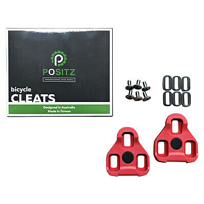 POSITZ ARC-10 RED LOOK KEO CLEATS - Road Bike Cycling Pedal 7° Floating