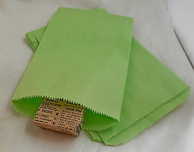 100 6x9 (6.25x9.25) Lime Green Paper Merchandise Kraft Bags,Party Favor Gift Bag
