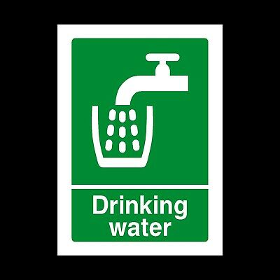 Drinking Water Signs & Stickers All Sizes! All Materials! Free P+P (Hs5)