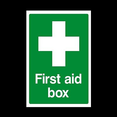 First Aid Box - Plastic Sign or Sticker - Multiple Sizes Available (MISC7)