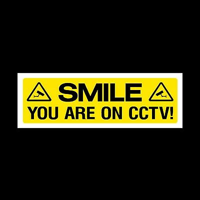 Smile You Are On Cctv Signs & Sticker All Materials! All Sizes! Free P+P (Misc3)