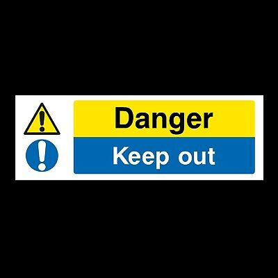 DANGER KEEP OUT SIGNS & STICKERS ALL MATERIALS! 300x100 FREE P+P (MP1)