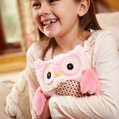"""Warmies Intelex 10"""" Pink Hooty Owl Microwavable Heatable Cozy Lavender Scented"""
