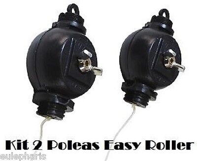 Kit 2 polea Easy Roller,10Kg, facil fijacion, poleas extensibles y retractiles