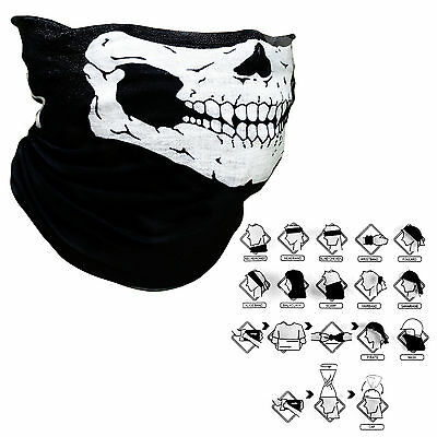Full Function Ski Motorcycle Biker Scarf Skull Face Mask Snood Neck Gaitor Z080