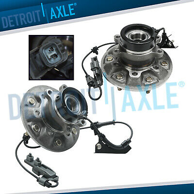 (2) Front Wheel Bearing & Hub Assembly 2004-2008 Chevy Colorado GMC Canyon 4x4