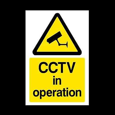 Cctv In Operation *pack Of 10* Signs & Stickers All Sizes! (Misc11)