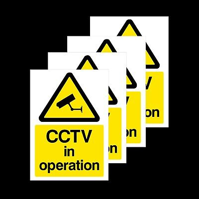 4x CCTV In Operation Rigid Sign or Sticker - Security, Surveillance (MISC11)