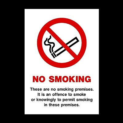 No Smoking Here Signs & Stickers All Sizes! All Materials! Free P+P (Ps67)