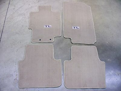 GENUINE OEM Acura TL Light Tan Carpet Floor Mats - 2006 acura tl floor mats