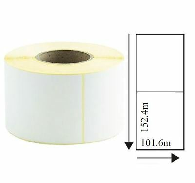 10,000 101.6mm x 152.4mm White Thermal Transfer Labels 76mm Core