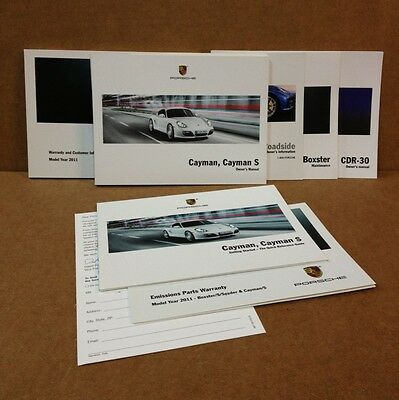 2011 OEM Porsche Cayman S R Complete Owners Manual Set With CDR 30 Radio