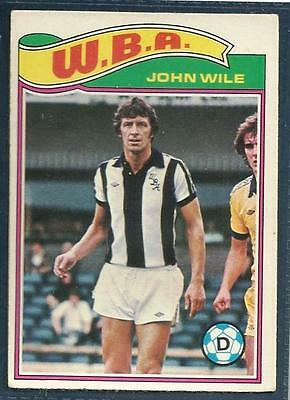 Topps 1978 Footballers #169-West Bromwich Albion-Peterborough-John Wile