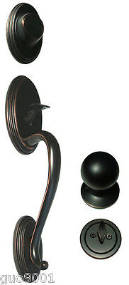 Dark Oil Rubbed Bronze Front Door Dummy Handleset Round Knob Handle Knobs