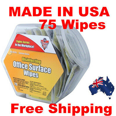 Dust-off Office Surface Disinfecting Wipes Office Share Pack kills 99.9% Germs