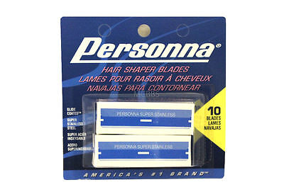 Personna Stainless Steel Hair Shaper Blades 10-Count