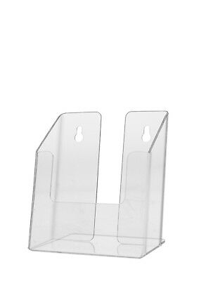 "Clear Brochure Box Holder for 4""W Literature, Wall or Counter Lot of 24"