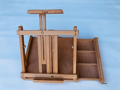 Table Box Easel With Side Drawer -Beechwood including Palette- Sale Price