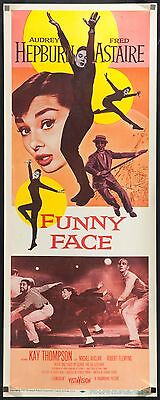 """FUNNY FACE 1957 U.S. 14""""x36"""" poster Audrey Hepburn Fred Astaire filmartgallery"""