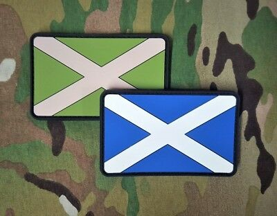 Gun Point Gear Velcro Morale Patch Saint Andrews Cross Multicam Scottish Flag