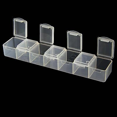 Clear Pill Box Organizer Case 7 Grid Sorter Tablet Medicine Container Holder