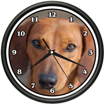 BROWN DACHSHUND Wall Clock dog doggie pet breed gift