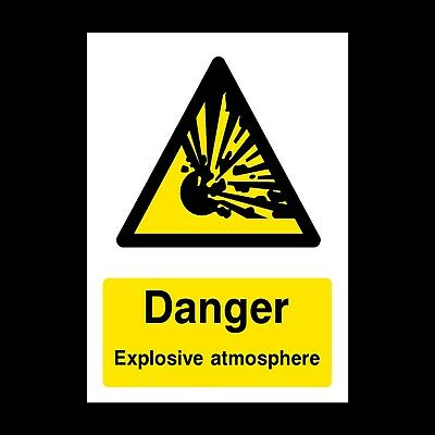 Explosive Atmosphere Signs & Stickers All Sizes! All Materials! Free P+P (Wcd45)