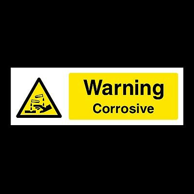 Warning Corrosive Signs & Stickers All Materials! All Sizes! Free P+P (Wcd5)