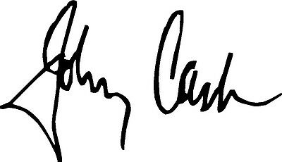 Johnny Cash Autograph Design Decal / Sticker for Guitar , Wall or flat surface