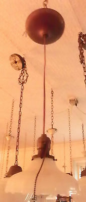 Industrial Age Pendulum Light W/ Bryant Socket And White Shade 5463