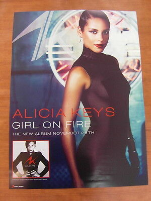 ALICIA KEYS - Girl On Fire [OFFICIAL] POSTER *NEW*