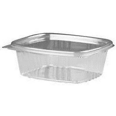 32oz. Clear Hinged Flat Lid Deli Container 200pcs Genpak AD32 disposable