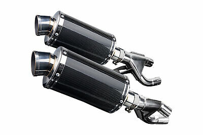 "YAMAHA VMAX VMX12 V-MAX 84-07 DS70 9"" CARBON FIBER EXHAUST MUFFLERS Slip-On"