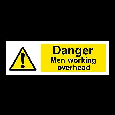 Men Working Overhead Signs & Stickers All Materials! All Sizes Free P+P (Wg2)