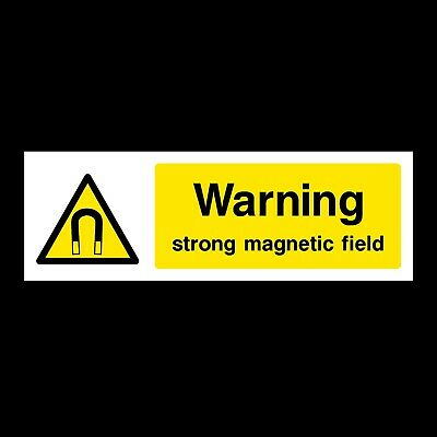 Strong Magnetic Field Signs & Stickers All Materials! All Sizes Free P+P (Wg33)