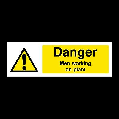 Men Working on Plant Plastic Sign OR Sticker (WMH1)