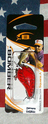 bomber square a black / red crawdad 0 - 3 ft 1/4 oz fishing lure