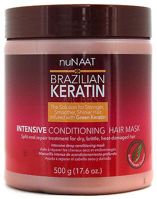 Nunaat Brazilian Keratin Intensive Hair Mask Complete Hair Recovery 17.6 Oz.