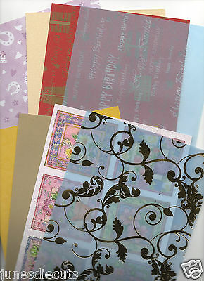 **CARDMAKING CLEAROUT - 20 X a4 SHEETS VELLUM, CARD, PAPER, GLITTER, EMBOSSED