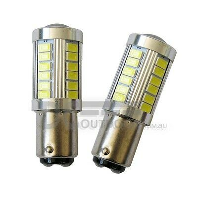 33 SMD LED BA15D Globe for Replacement of Caravan Bulb (TWIN PACK) SUPER BRIGHT