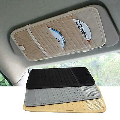 Car Sun Sunshade Visor CD DVD Disc Storage Fix Pouch Bag Holder Case 12 Slots