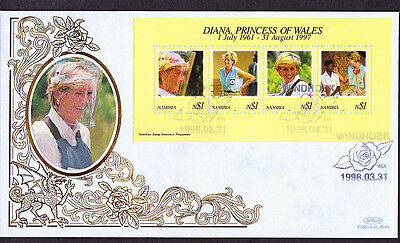 GB Diana Princess of Wales Benham Silk Namibia Postmark