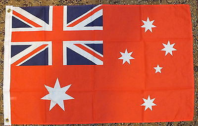 Australian Red Ensign Flag 3x2 Aussie Merchant Navy Naval Ships Boats Sports bn