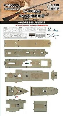Hunter 1/400 W40002 Wood deck RMS Titanic for Academy
