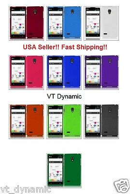 for LG Optimus L9 Matte Rubberized Hard Thin 2 Piece Snap On Bumper Case Cover