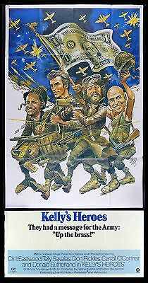 the aviator Kellys Heros 1970/'s vintage poster black and white in#G1711